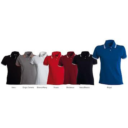 POLO ANTIGUA M/C DONNA RETRO COLLO A RIGHE TG.S-XL