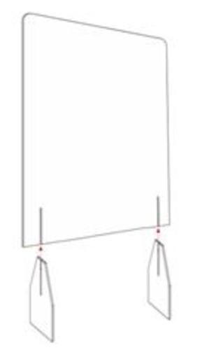 Parete divisoria per la Sicurezza in plexiglass Trasparente,80 200cm LHDQ Barriera Protettiva