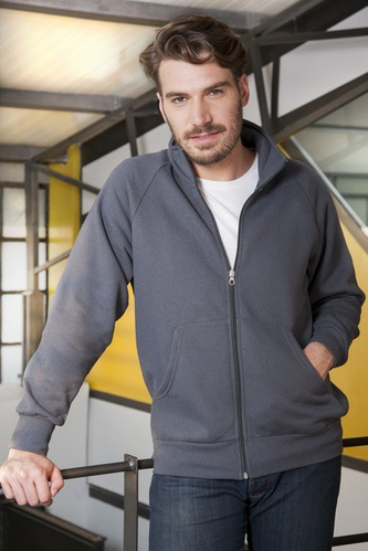 FEPA JACKET ZIP LUNGA IN RAGLAN